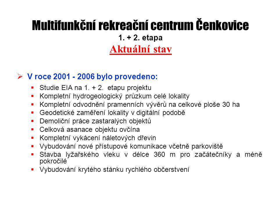 Multifunkční rekreační centrum Čenkovice 1. + 2.