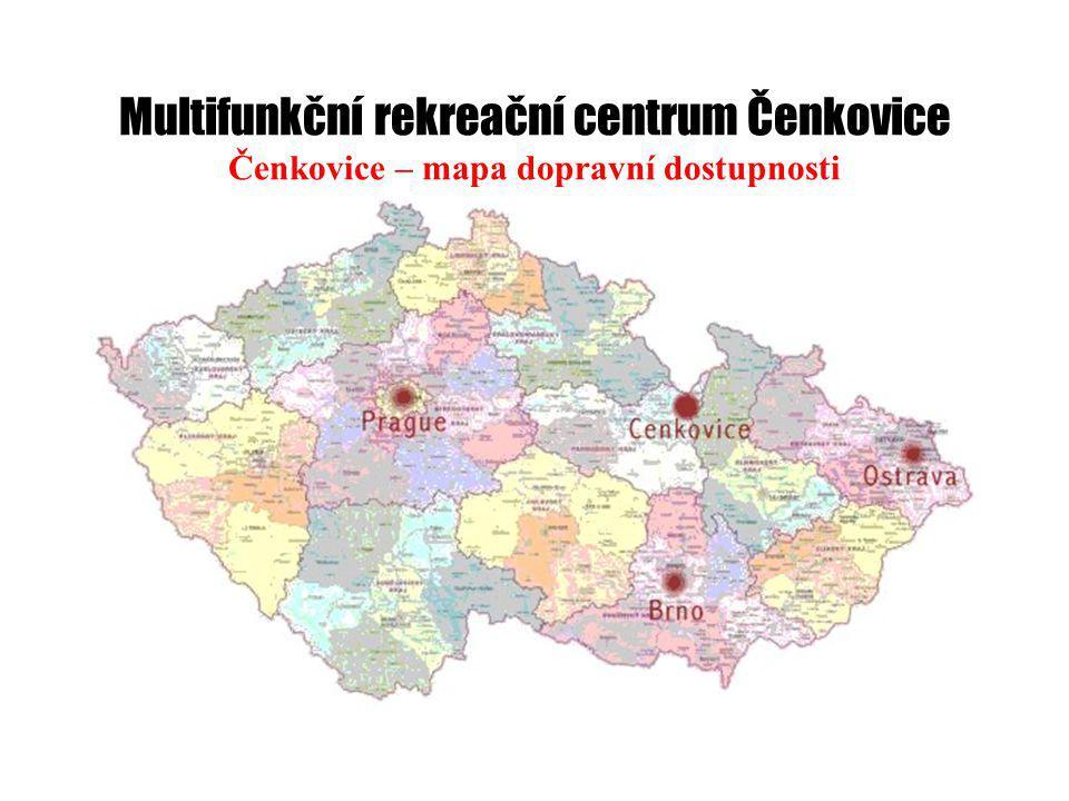 Multifunkční rekreační centrum Čenkovice Čenkovice – mapa dopravní dostupnosti