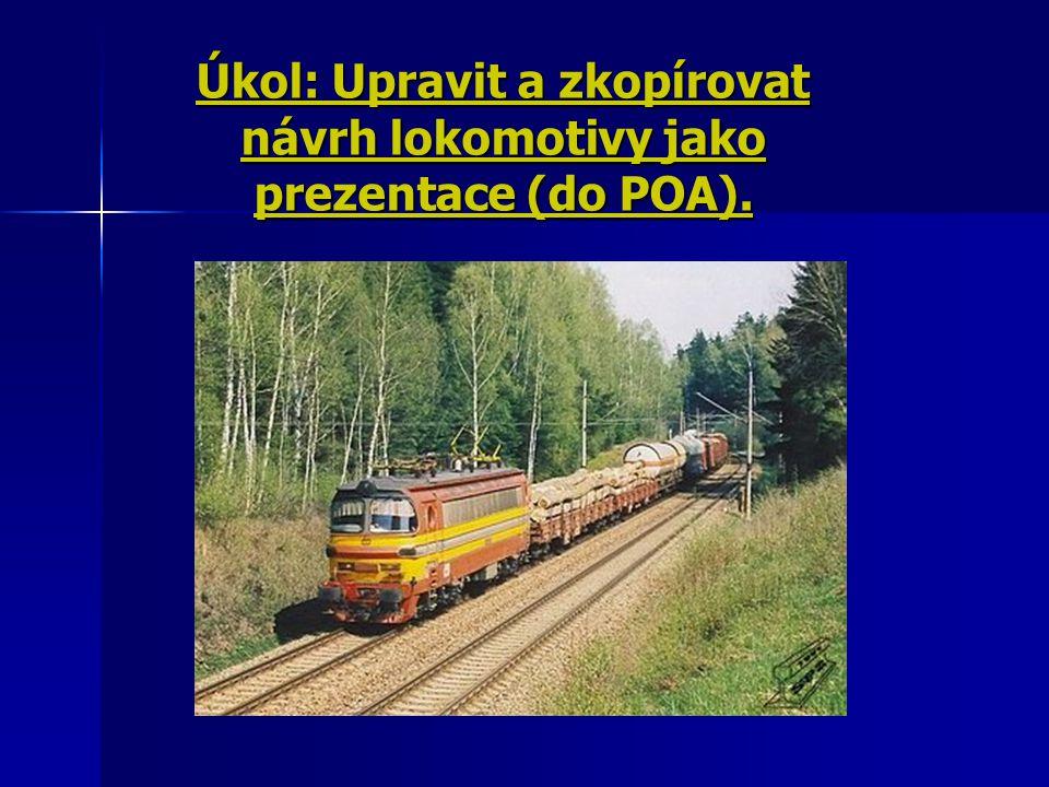 1) Tažná síla na obvodu hnacích kol Tuto sílu lze vypočítat ze vztahu : Ftmax=(Gl+Gv)*(Po+Pr+Psmax+Pa/g) [kN] Legenda : Ftmax - Max.tažná síla lokomotivy[kN] Gl - Tíha lokomotivy[kN] Gv - Tíha zátěže[kN] Po - Měrný jízdní odpor Pr - Redukovaný přídavný jízdní odpor v oblouku [N/kN] Psmax - Max.sklon v délce vlaku Pa - Měrná zrychlující síla při rozjezdu vlaku [N/t]
