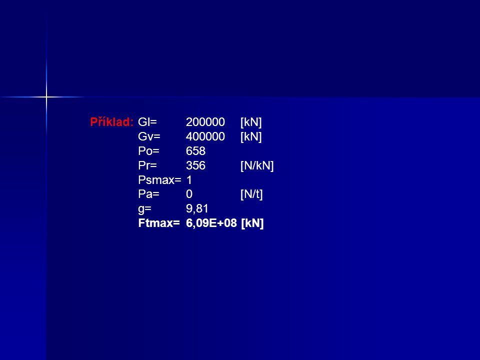1) Tažná síla na obvodu hnacích kol Tuto sílu lze vypočítat ze vztahu : Ftmax=(Gl+Gv)*(Po+Pr+Psmax+Pa/g) [kN] Legenda : Ftmax - Max.tažná síla lokomot