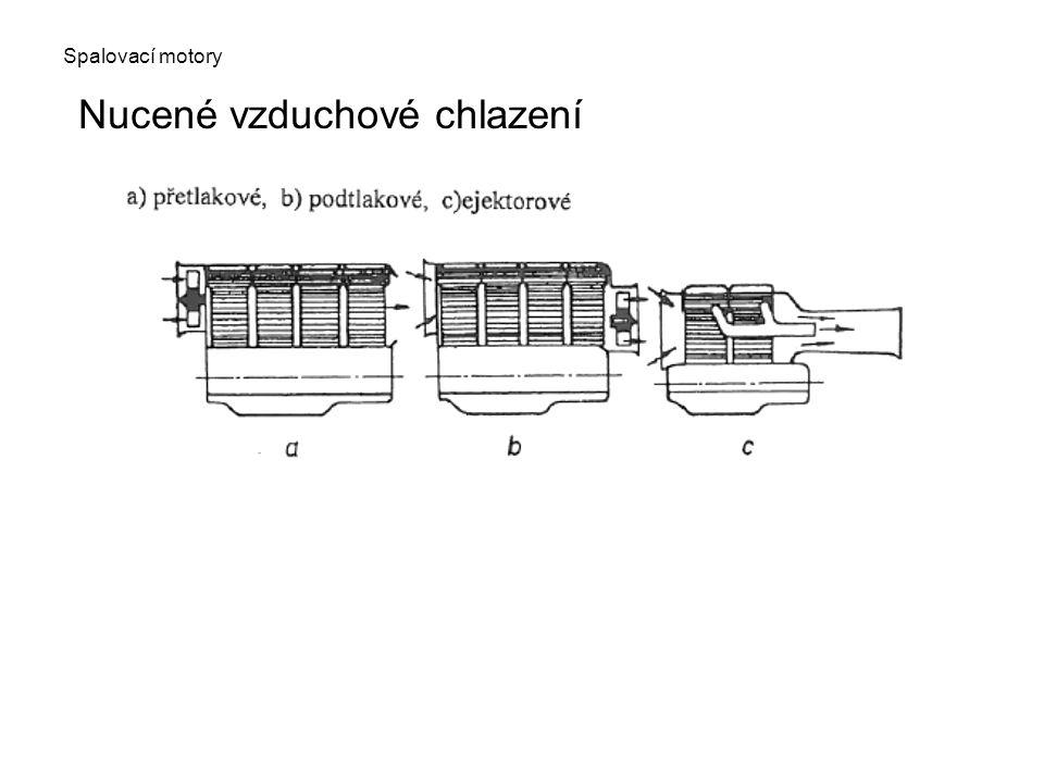 Spalovací motory Nucené vzduchové chlazení