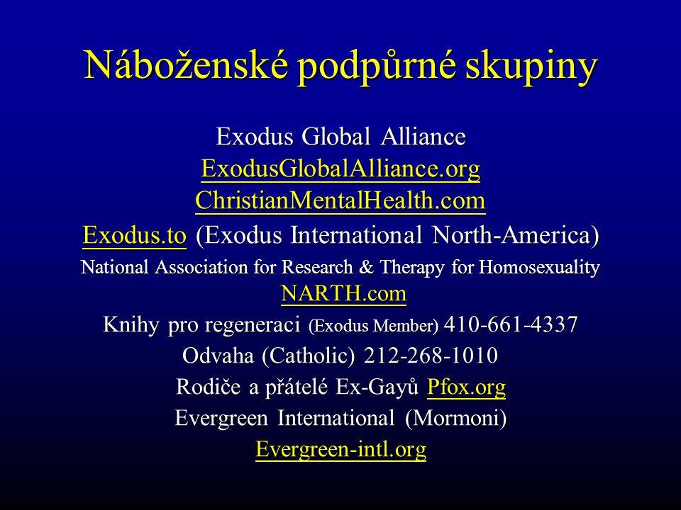 Náboženské podpůrné skupiny Exodus Global Alliance ExodusGlobalAlliance.orgChristianMentalHealth.com Exodus.to (Exodus International North-America) Na