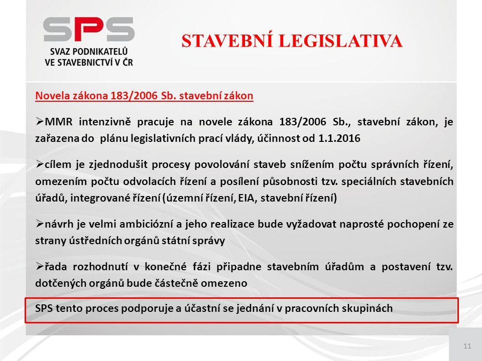 11 Novela zákona 183/2006 Sb.