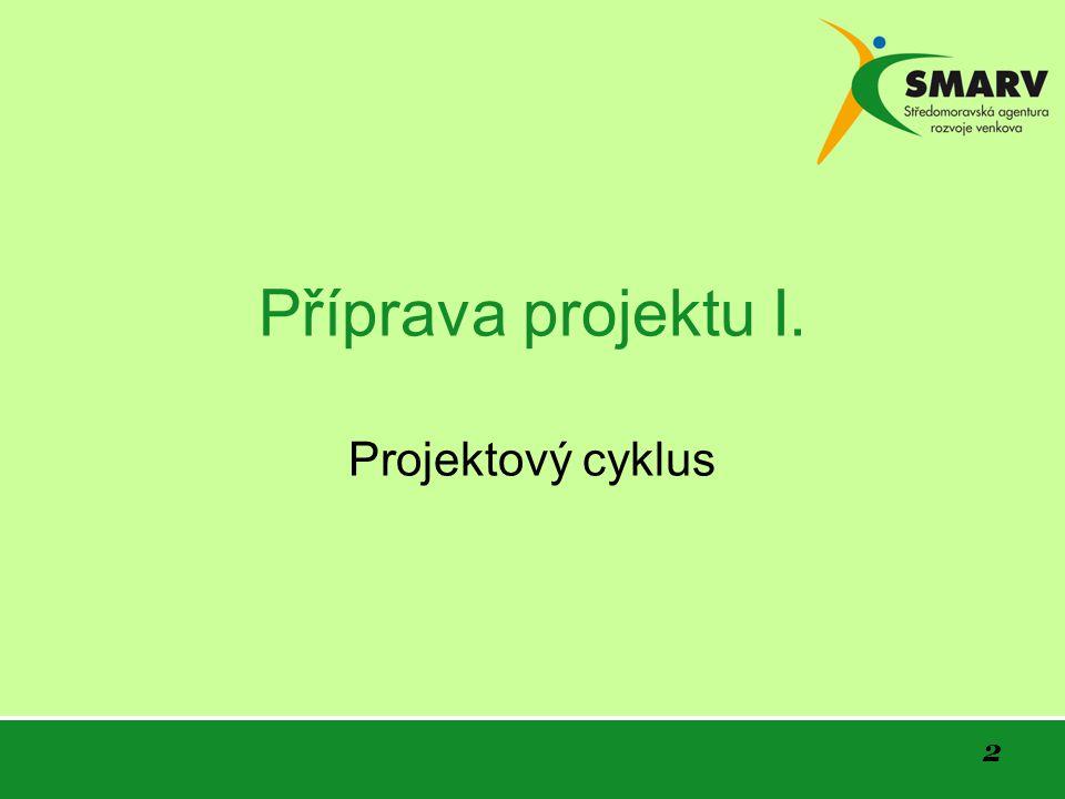 2 Příprava projektu I. Projektový cyklus