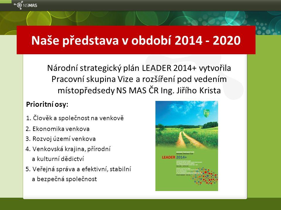 Naše představa v období 2014 - 2020 Národní strategický plán LEADER 2014+ vytvořila Pracovní skupina Vize a rozšíření pod vedením místopředsedy NS MAS ČR Ing.