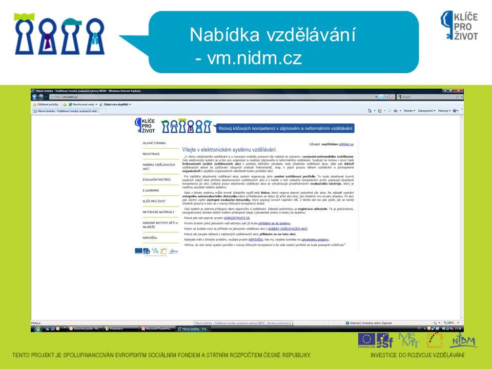Nabídka vzdělávání - vm.nidm.cz