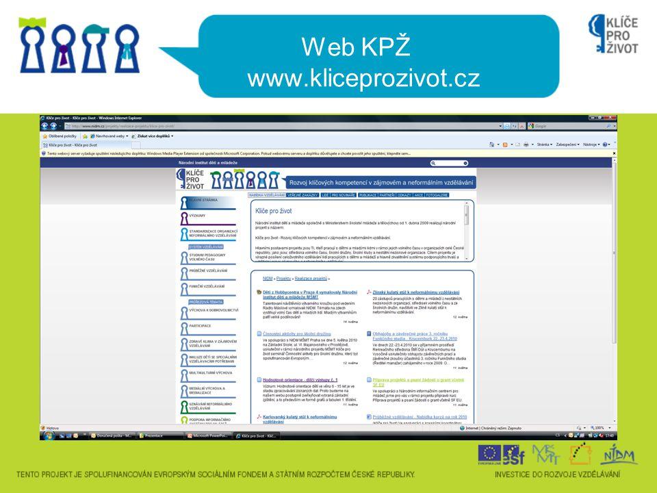 Web KPŽ www.kliceprozivot.cz