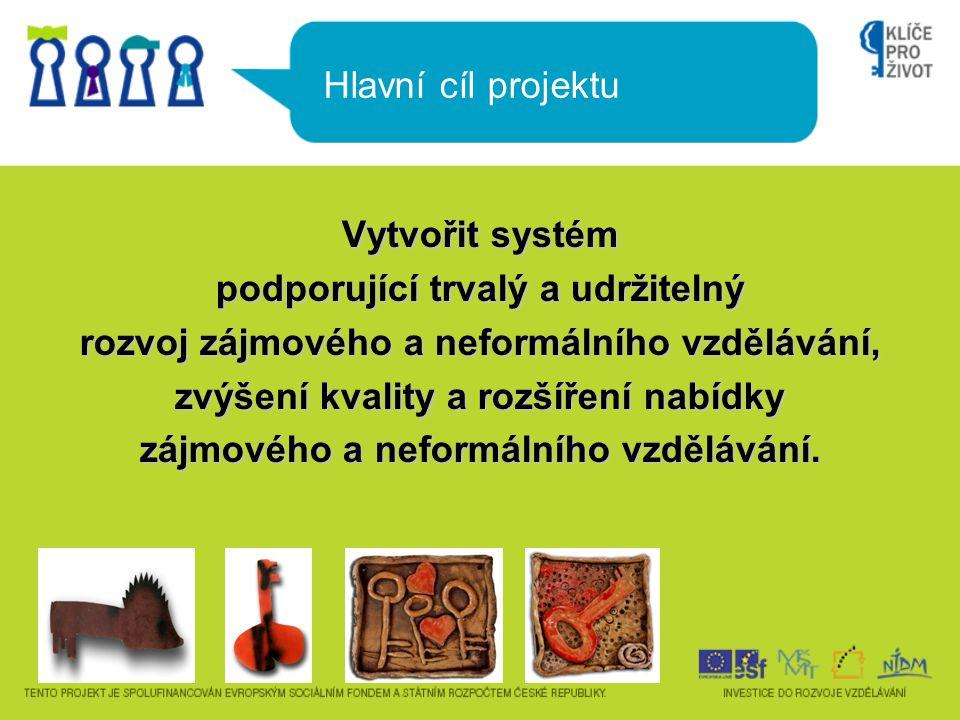 Vytvořit systém podporující trvalý a udržitelný rozvoj zájmového a neformálního vzdělávání, zvýšení kvality a rozšíření nabídky zájmového a neformální