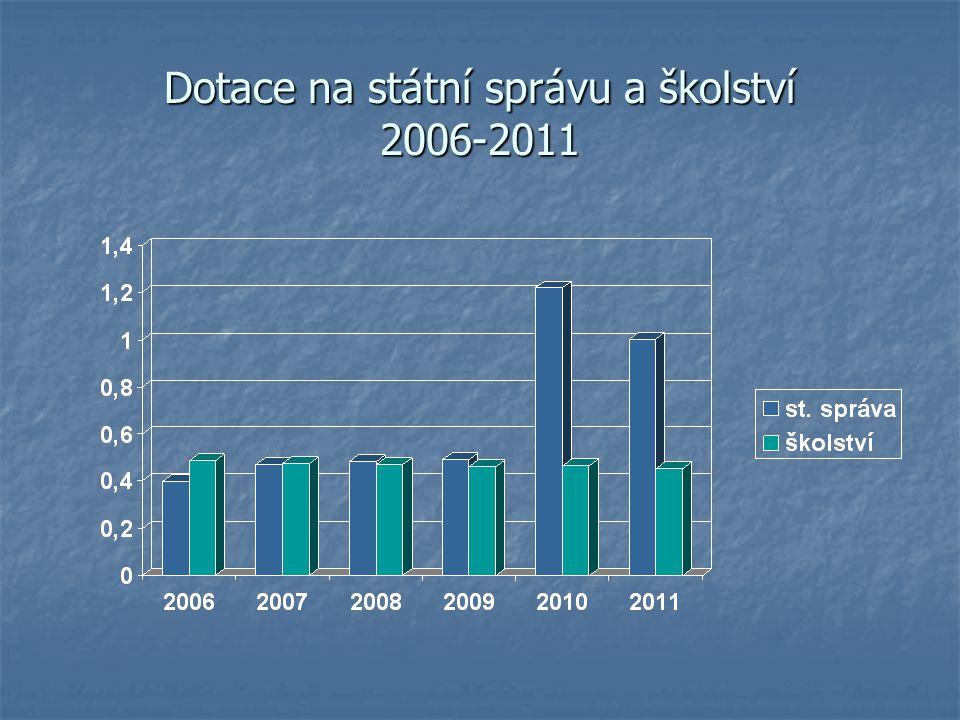 Dotace na státní správu a školství 2006-2011