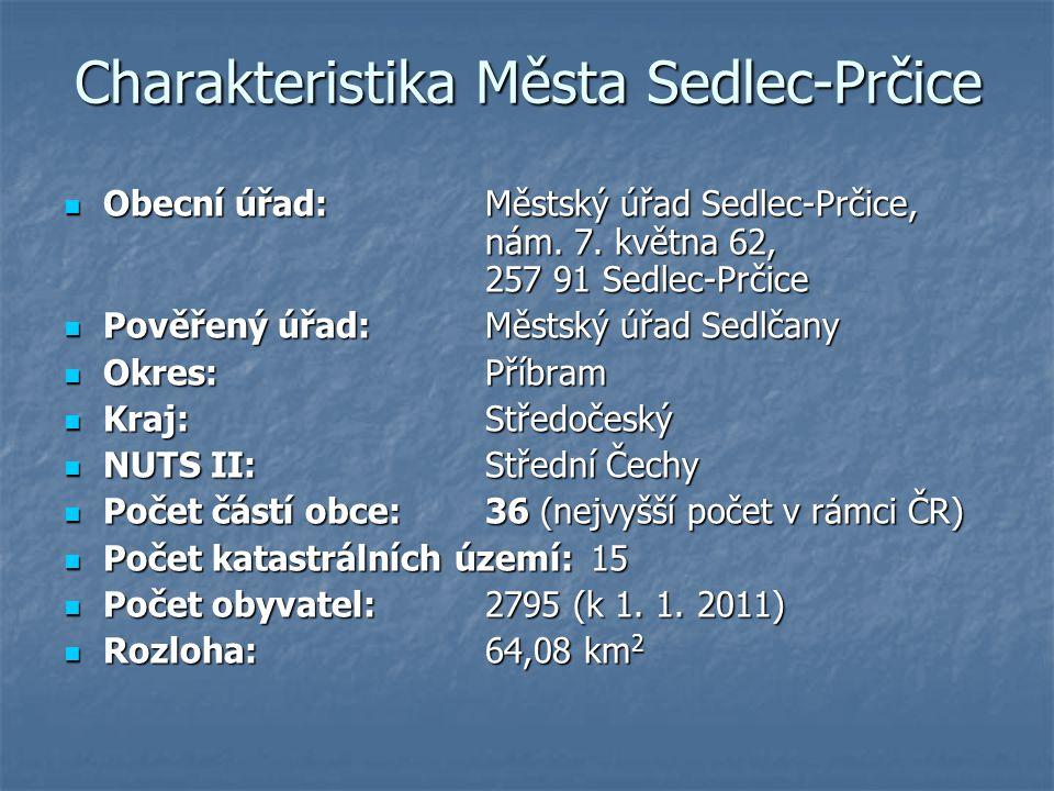 Charakteristika Města Sedlec-Prčice Obecní úřad:Městský úřad Sedlec-Prčice, nám. 7. května 62, 257 91 Sedlec-Prčice Obecní úřad:Městský úřad Sedlec-Pr