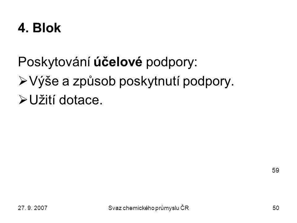 27. 9. 2007Svaz chemického průmyslu ČR50 4.