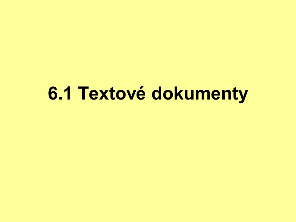 Textové dokumenty jsou technické dokumenty ve kterých těžiště předávaných informací spočívá v plynulých textech (textových řetězcích ) textové informace v technickém dokumentu mohou být doplněny o další informace umísťované: - v textu dokumentu - jako přílohy textového dokumentu - tabulky - matematické vztahy, rovnice, výpočty - obrázky - diagramy (grafy) - výkresy - schémata - plány