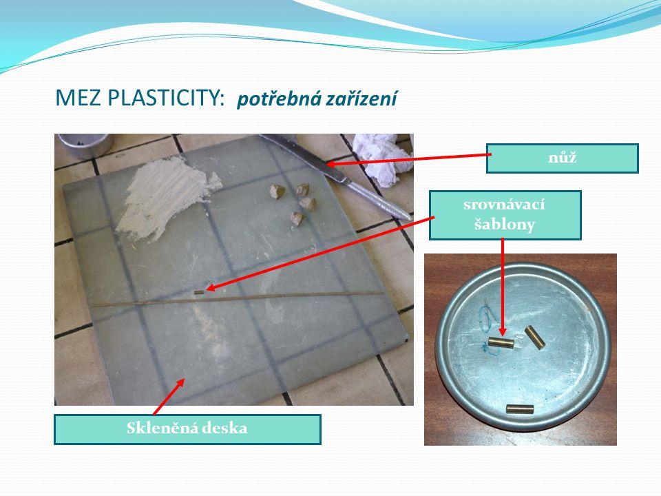 MEZ PLASTICITY: potřebná zařízení Skleněná deska nůž srovnávací šablony