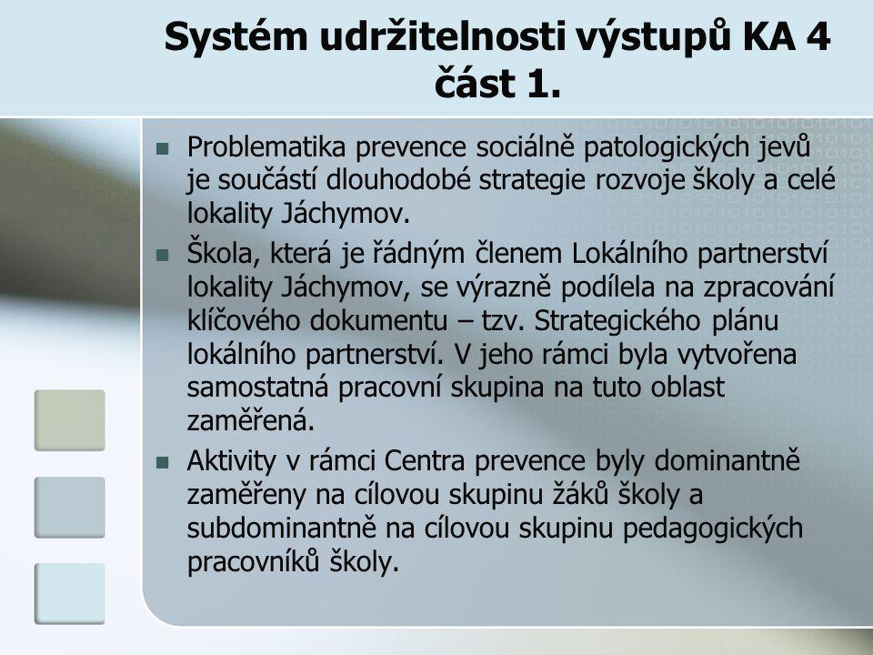 Systém udržitelnosti výstupů KA 4 část 1.