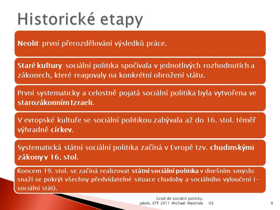 03 Úvod do sociální politiky. Jabok, ETF 2011 Michael Martinek30