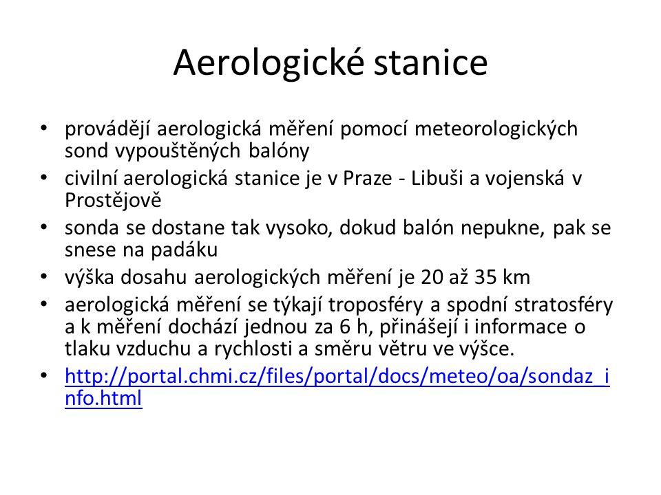 Radiolokační stanice v ČR dva meteorologické radiolokátory (vrchol Praha v Brdech a Skalky v Drahanské vrchovině).