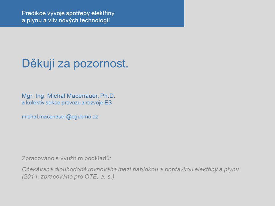 Děkuji za pozornost. Mgr. Ing. Michal Macenauer, Ph.D. a kolektiv sekce provozu a rozvoje ES michal.macenauer@egubrno.cz Zpracováno s využitím podklad