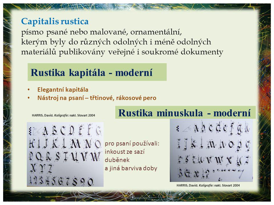 Capitalis rustica písmo psané nebo malované, ornamentální, kterým byly do různých odolných i méně odolných materiálů publikovány veřejné i soukromé do