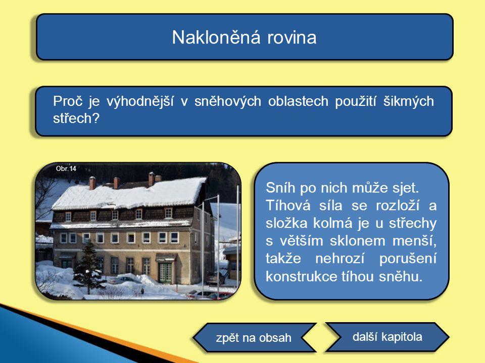 Proč je výhodnější v sněhových oblastech použití šikmých střech.