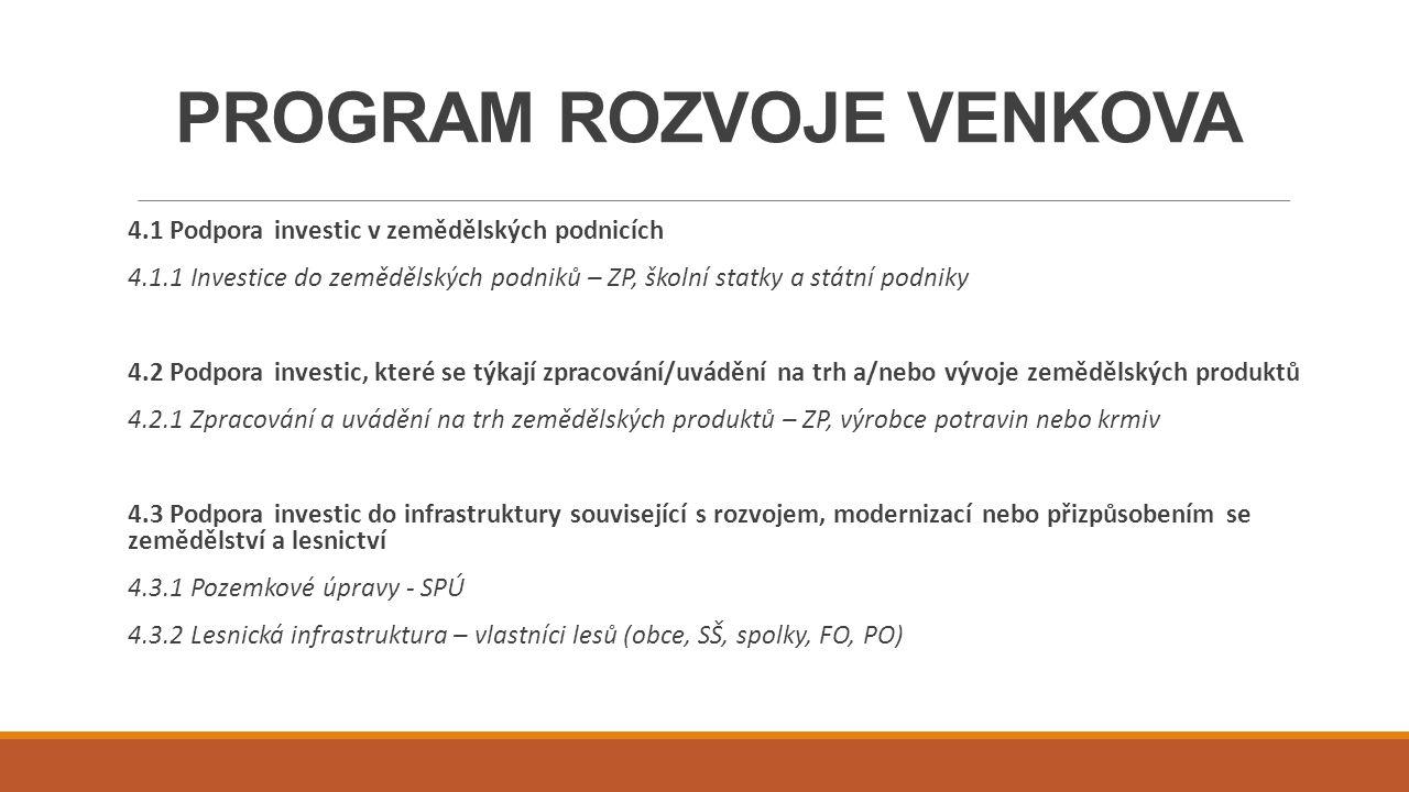 PROGRAM ROZVOJE VENKOVA 16.6.1 Horizontální a vertikální spolupráce při udržitelném zajišťování biomasy pro výrobu energie a v průmyslových procesech Podpora společných investičních akcí, které propojují udržitelnou výrobu biomasy a její další využití v průmyslových procesech, a také pro výrobu energie.