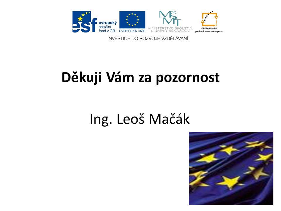 Děkuji Vám za pozornost Ing. Leoš Mačák