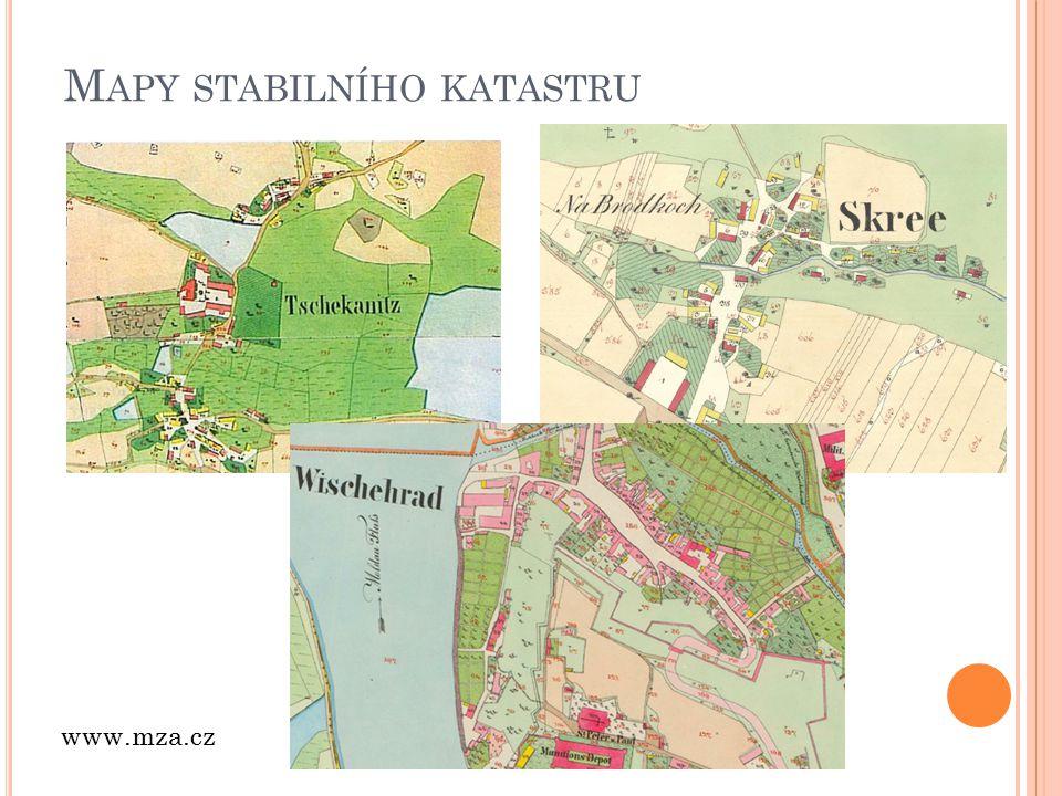 M APY STABILNÍHO KATASTRU www.mza.cz