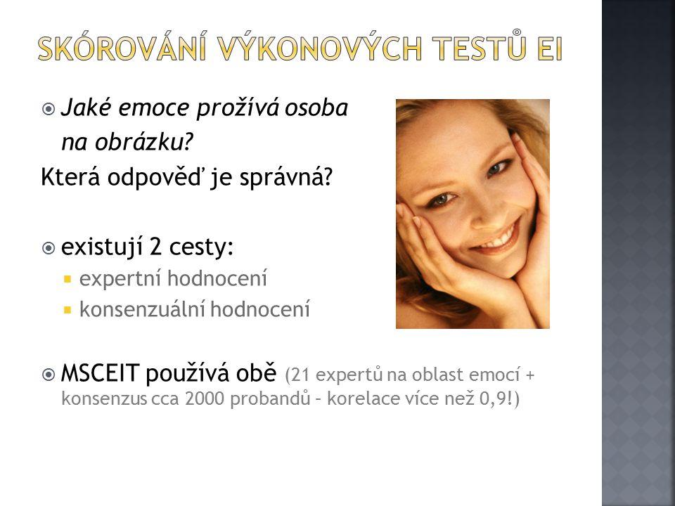  Jaké emoce prožívá osoba na obrázku.Která odpověď je správná.