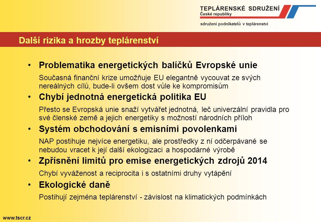 sdružení podnikatelů v teplárenství www.tscr.cz Těžba za limity.