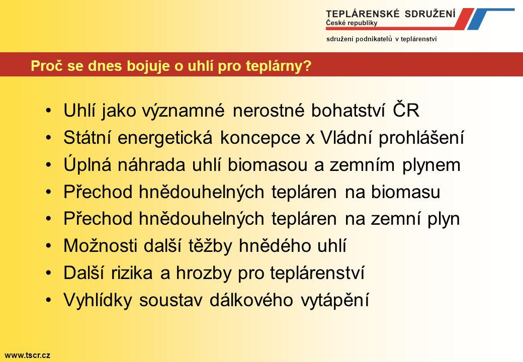 sdružení podnikatelů v teplárenství www.tscr.cz Tradiční setkání energetiků Jelenovská, leden 2009 Proč se dnes bojuje o uhlí pro teplárny.