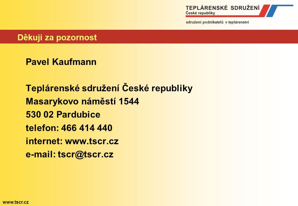 sdružení podnikatelů v teplárenství www.tscr.cz Budoucnost soustav dálkového vytápění