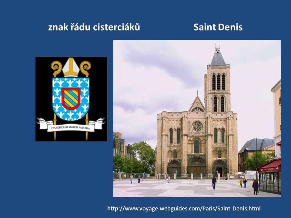 znak řádu cisterciákůSaint Denis http://www.voyage-webguides.com/Paris/Saint-Denis.html