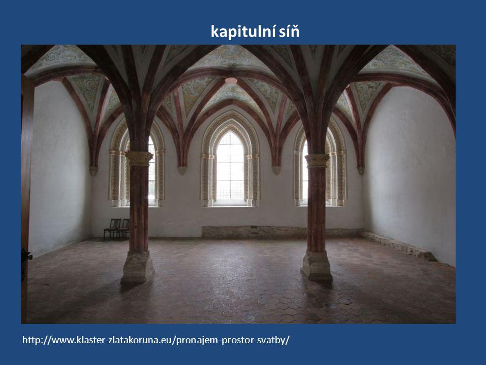 kapitulní síň http://www.klaster-zlatakoruna.eu/pronajem-prostor-svatby/
