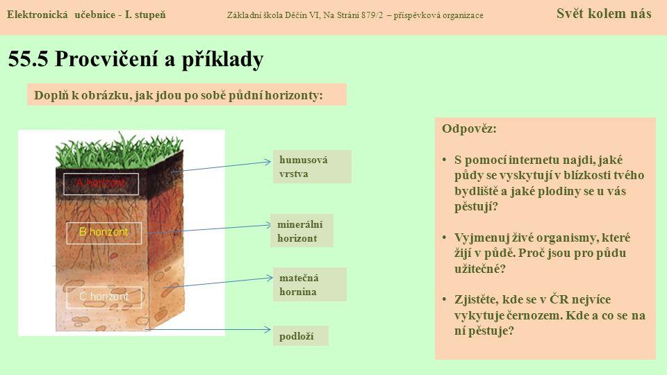 55.5 Procvičení a příklady Elektronická učebnice - I.