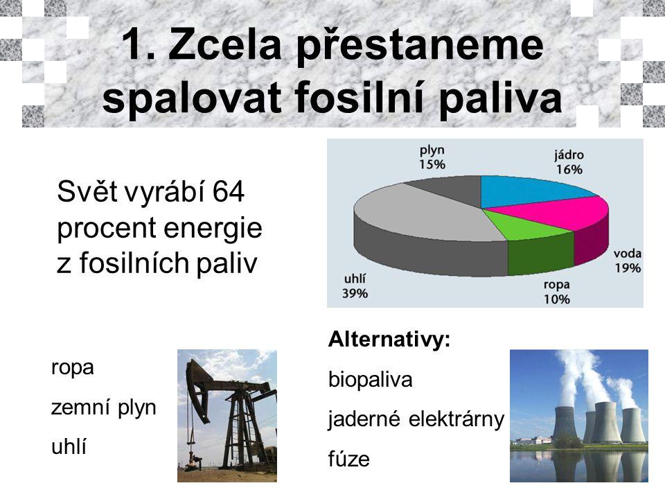 Biopaliva Při započtení vedlejších efektů produkují víc CO 2 než nafta Nejvýhodnější je brazilský etanol z cukrové třtiny