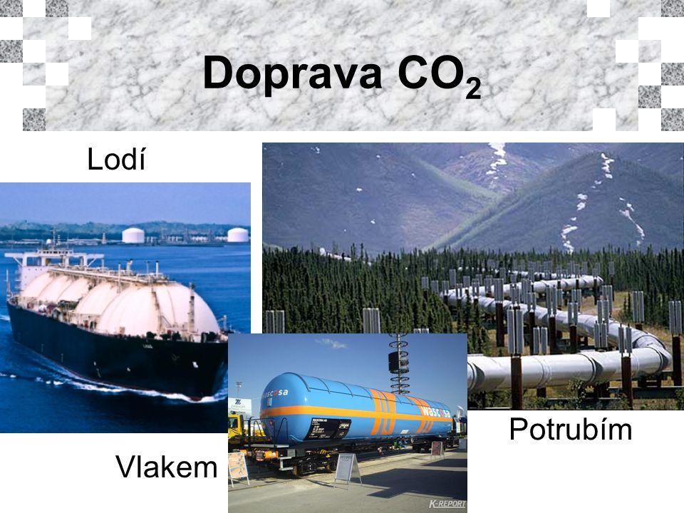 Doprava CO 2 Lodí Vlakem Potrubím
