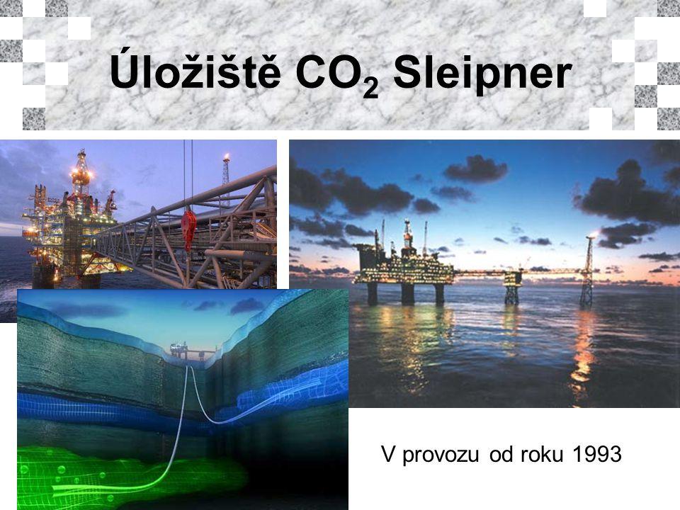 Úložiště CO 2 Sleipner V provozu od roku 1993