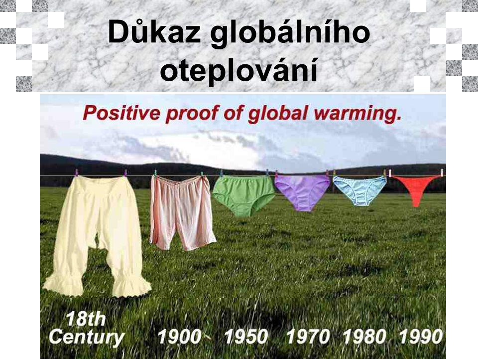 Důkaz globálního oteplování