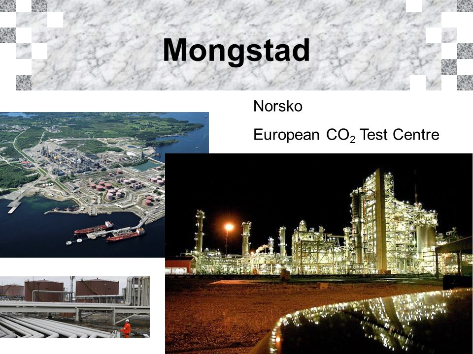 Mongstad Norsko European CO 2 Test Centre