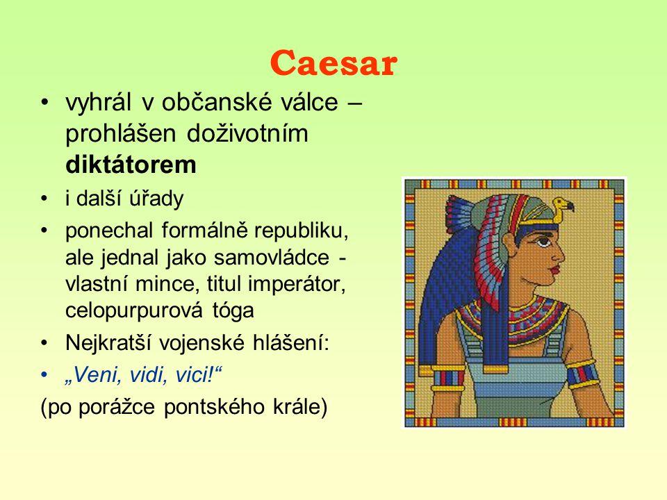 Gaius Julius Caesar 100 – 44 př.n. l.