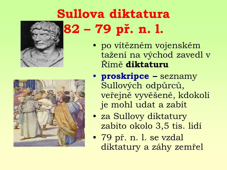 Sullova diktatura 82 – 79 př.n. l.