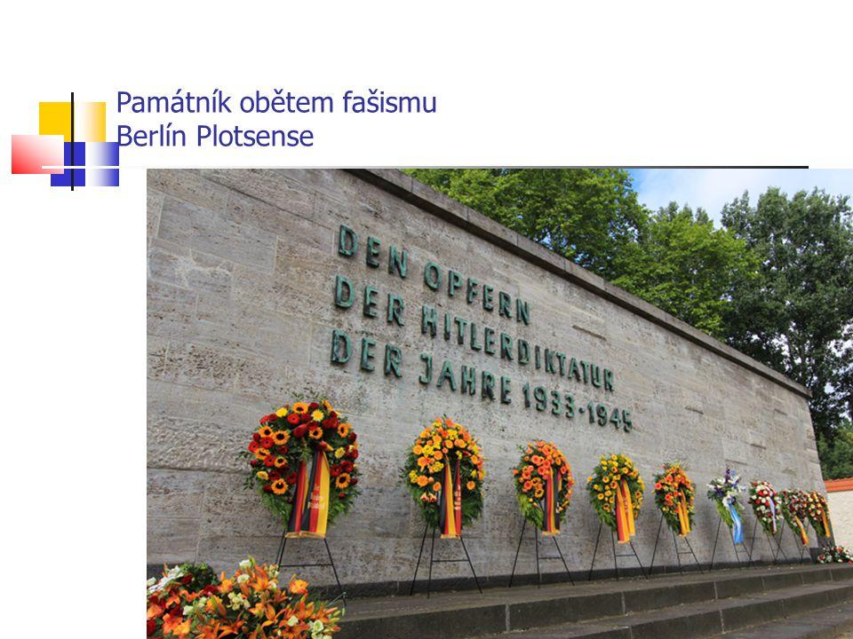 Památník obětem fašismu Berlín Plotsense
