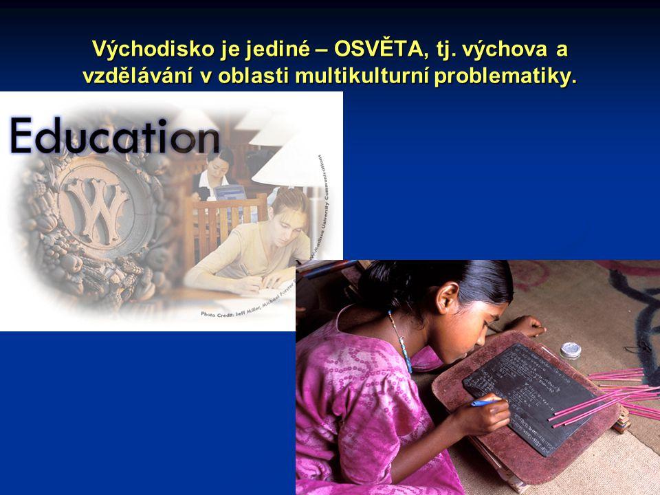 Východisko je jediné – OSVĚTA, tj. výchova a vzdělávání v oblasti multikulturní problematiky.