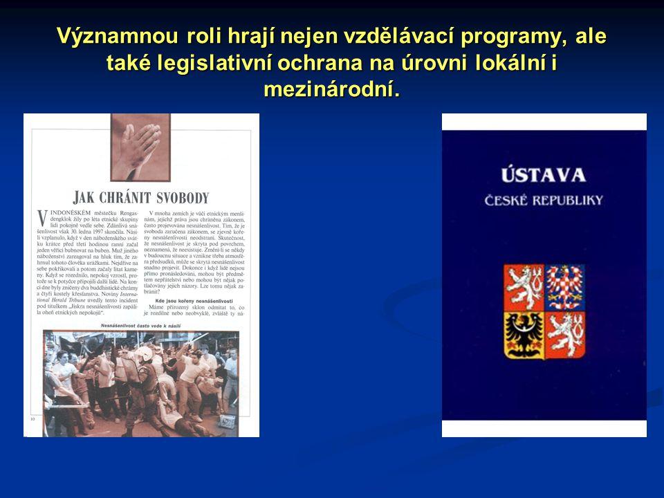 Významnou roli hrají nejen vzdělávací programy, ale také legislativní ochrana na úrovni lokální i mezinárodní.