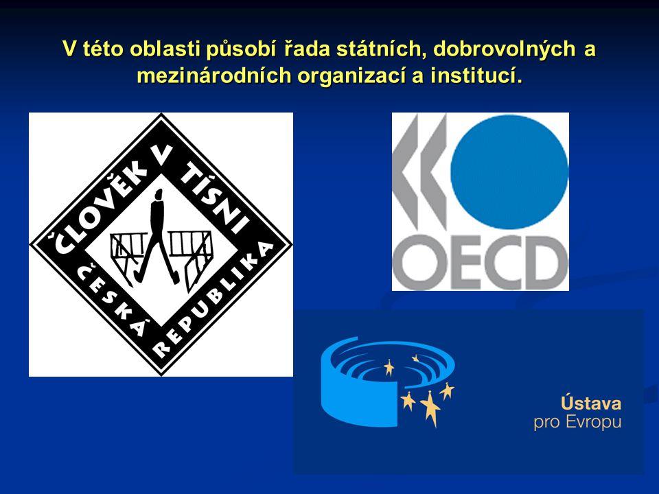 V této oblasti působí řada státních, dobrovolných a mezinárodních organizací a institucí.