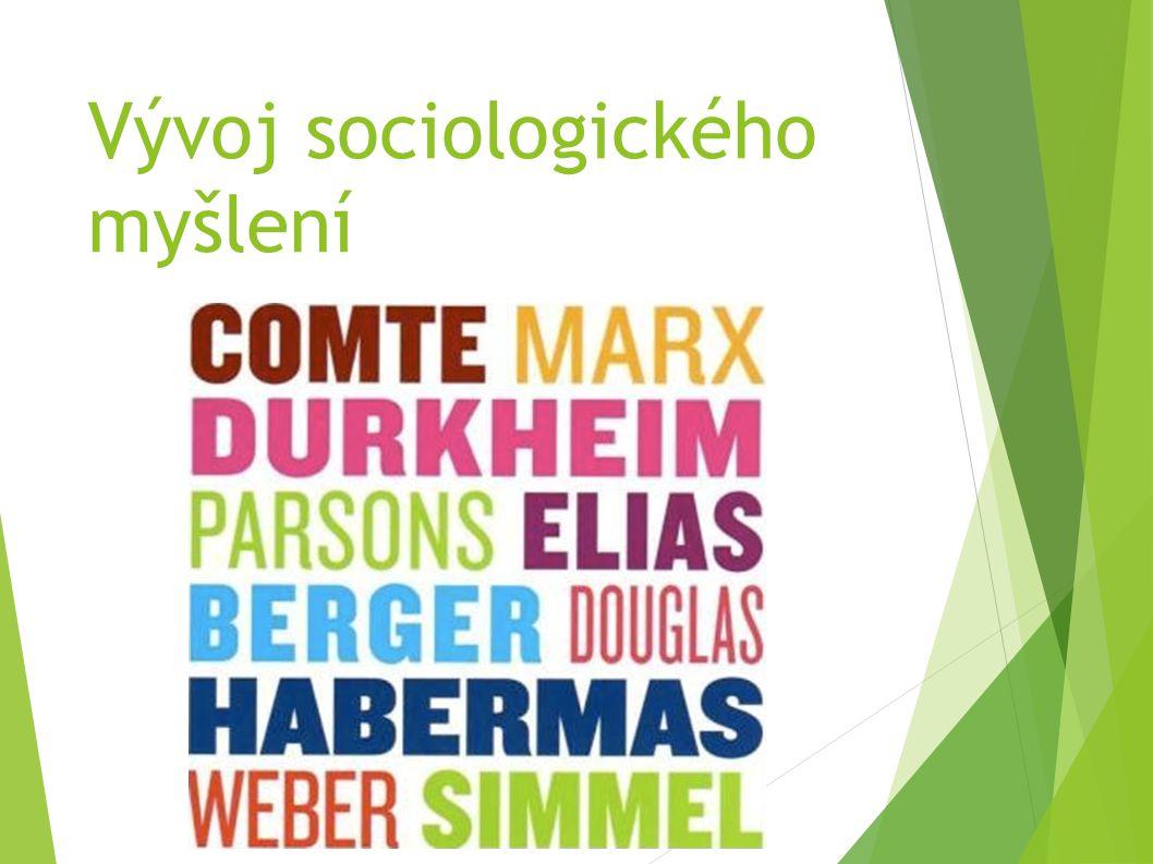 Vývoj sociologického myšlení