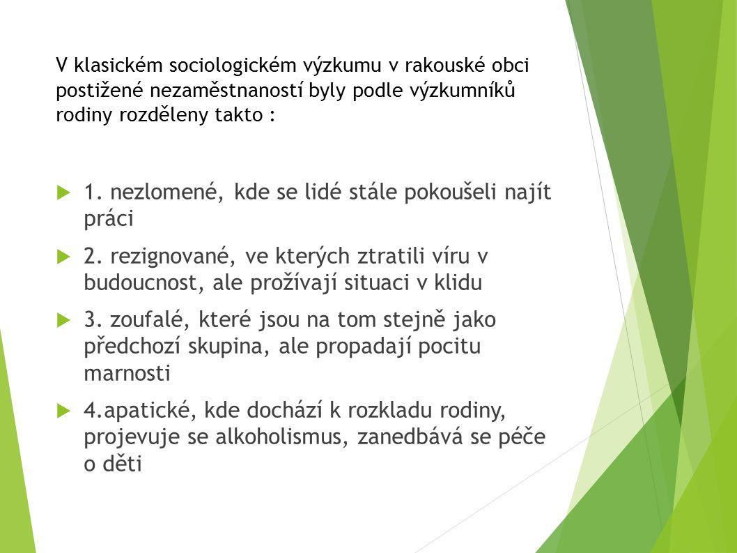 Sociologický výzkum 1.vymezení výchozího problému a cíle 2.