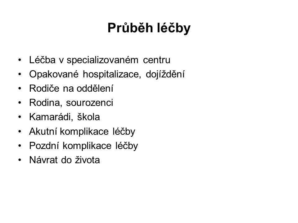 Smrt dítěte s nádorovým onemocněním U hematologických malignit (leukémie, lymfomy) umírá více dětí na komplikace léčby než na nezvládnutelné základní onemocnění Z 574 dětí a dospívajících s akutní leukémií léčených v České republice v letech 2002-10 (ALL) a 2004-12 (AML) zemřelo k 31.10.2014 62 dětí (11%).
