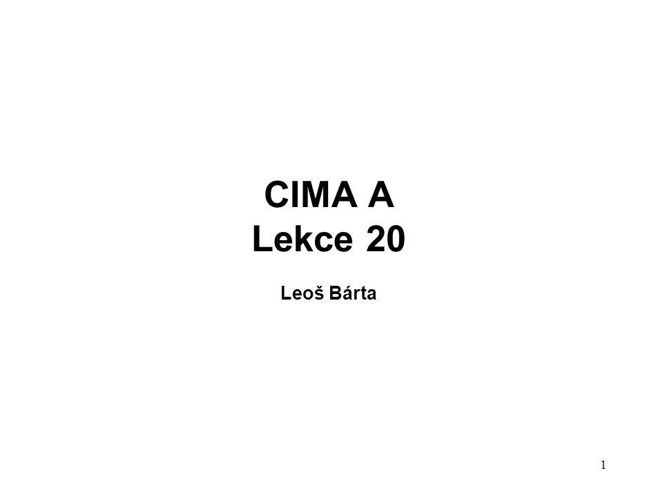 1 CIMA A Lekce 20 Leoš Bárta