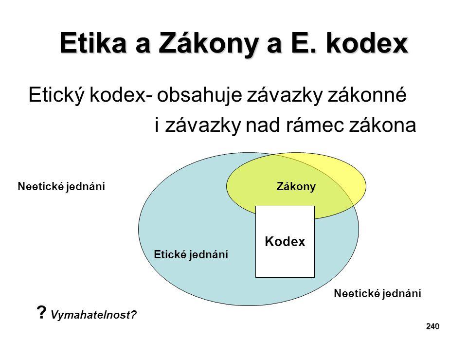 240 Etika a Zákony a E.