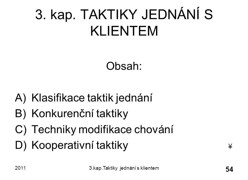 20113.kap.Taktiky jednání s klientem 54 3.kap.
